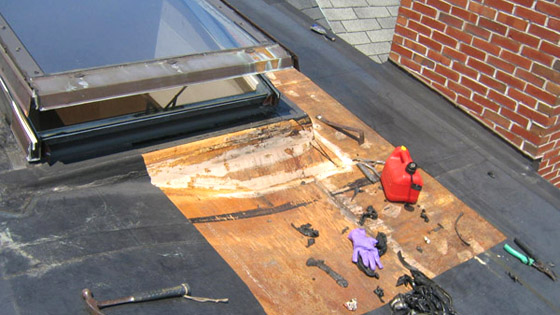 Leaky Skylight Repair